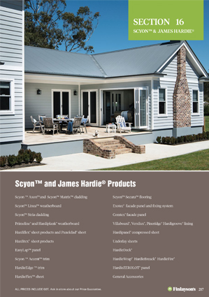 Finlayson's Scyon and James Hardie Products